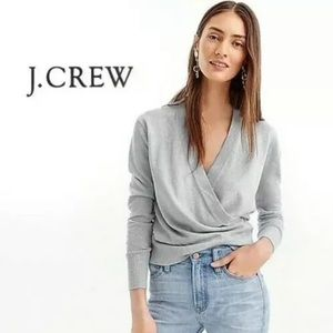 J crew Merino wool wrap sweater